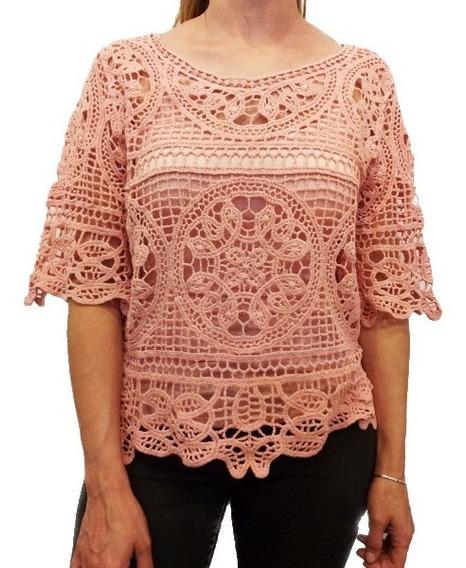Sweater Playero Tejido Blusa Crochet Importado