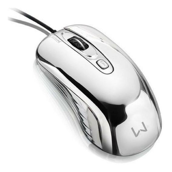 Mouse Gamer Cromado 7 Cores Warrior 1600 Dpi Usb - Mo228
