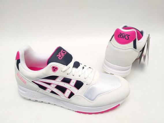 Tênis Asics Tiger Gel Saga Off White Rosa Original Retrô