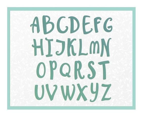 Suaje Corte Papel Alfabeto Troquel Tarjeta Invitacion Letras