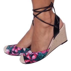ee01d4140 Sapato De Salto Anabela Estampado - Calçados, Roupas e Bolsas no ...