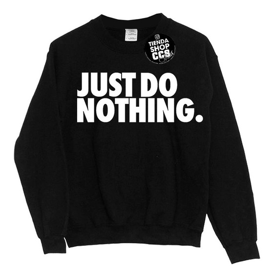 Sweater Nike Suéter Just Do Nothing Sin Capucha Algodón Dama