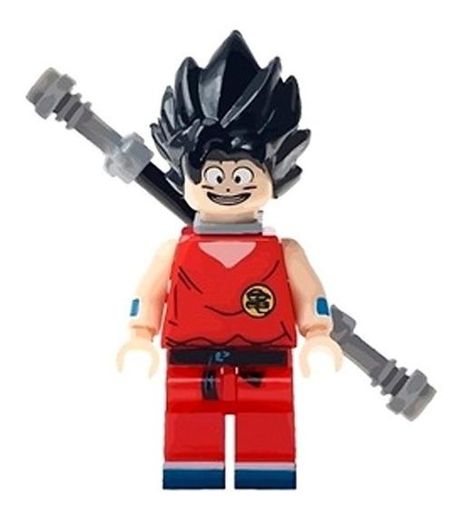 Bloco De Montar Goku Cabelo Preto Dragon Ball Z