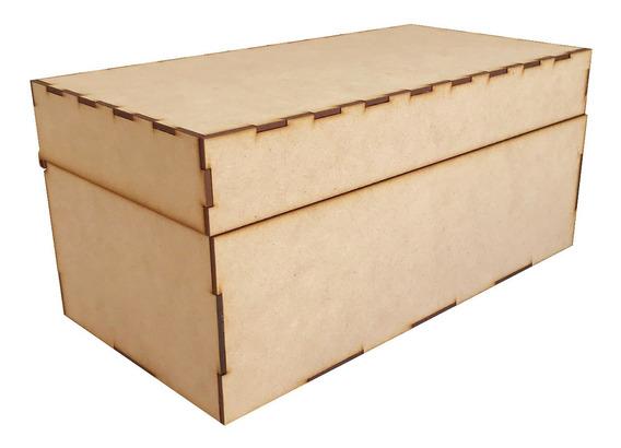 Caja Mdf 35 X 18 X 16 Baul Cuadrado Alhajero
