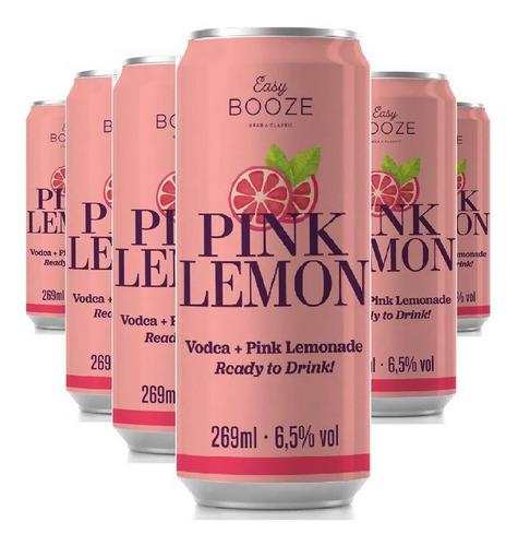Imagem 1 de 1 de 6x Easy Booze Lata Vodka+pink Lemon 269ml