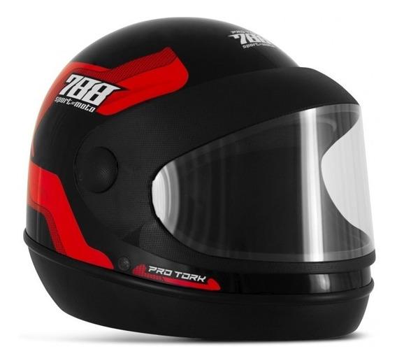 Capacete Sm Moto Pro Tork Sport Moto 788 Marino Automático