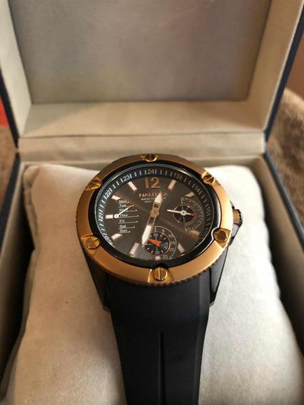 Reloj Náutica Original Negro Con Rose Gold Unisex