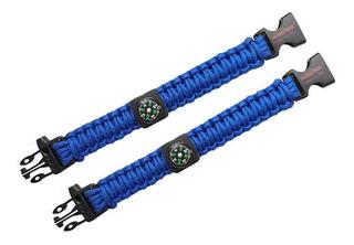 Pulseira Albatroz Azul 02 Unidades Com Apito E Bússola