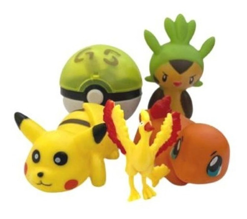 Pokebola Pikachu Charmander Mais 2 Pokemons