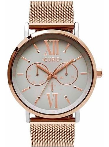 Imagem 1 de 2 de Relógio De Pulso Feminino Euro Ouro Rosé Eu6p29ahabp