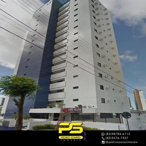 Apartamento Com 1 Dormitório À Venda, 50 M² Por R$ 220.000,00 - Brisamar - João Pessoa/pb - Ap4115
