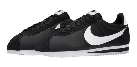 Tênis Nike Cortez Nylon Classic Black White,pronta Entrega.