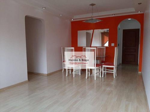 Imagem 1 de 30 de Apartamento Com 3 Dormitórios Para Alugar, 84 M² Por R$ 2.200,00/mês - Vila Augusta - Guarulhos/sp - Ap2400