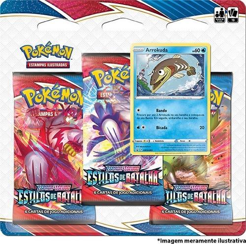 Card Game Pokémon Estilos De Batalha Blister Triplo Arrokuda