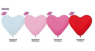 Globos Corazon Colores Surtidos R12