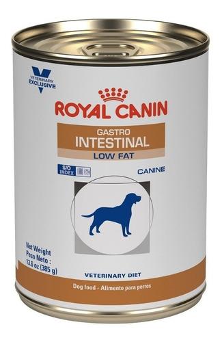 Imagen 1 de 1 de Alimento Royal Canin Veterinary Diet Canine Gastrointestinal Low Fat para perro todos los tamaños sabor mix en lata de 385g