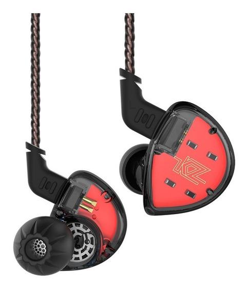 Kz Es4 Hifi Híbrido In-ear Fone De Ouvido Com Fio Earbuds