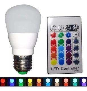 Lampara Led Rgb E27 Gota Colores Control Remoto Hue Light