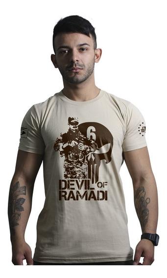 Camisa Militar Devil Of Ramadi Tribute Chris Kyle Team Six