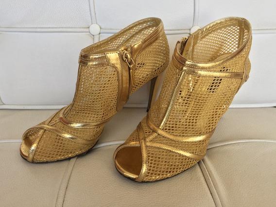 Sapato Feminino Dolce & Gabbana Original Dourado Perfeito