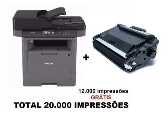 Impressora Brother Dcp-l5652dn + 01 Toner Extra 12k Novo