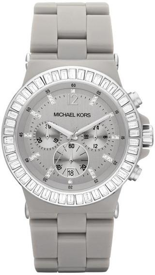 Relógio Michael Kors Mk5618 Orig Ceramic Chron Anal Grey