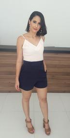 Conjunto Feminino Short Bolso Lateral Blusinha Regata