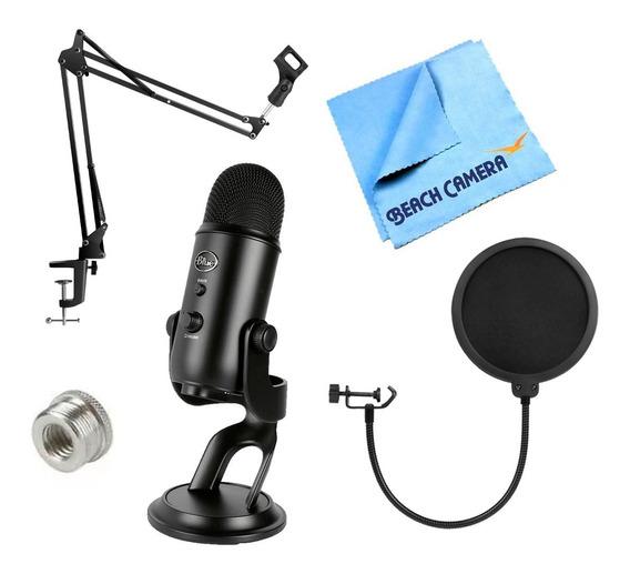 Micrófono Blue Yeti Kit /brazo/ Filtro Pop/adapta Regalo ! !