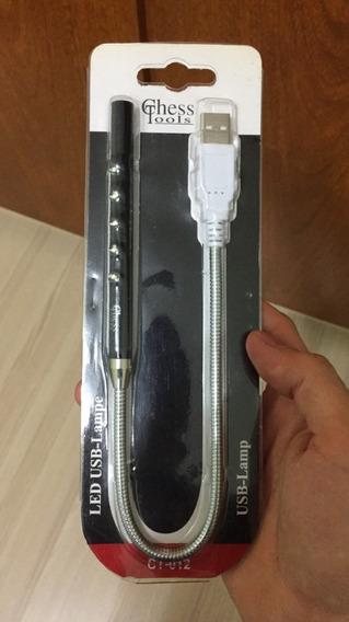 Mini Luminária Luz Lampada Led Abajur Notebook Usb Flexível