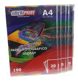 Papel Fotográfico 190g A4 20 Hojas