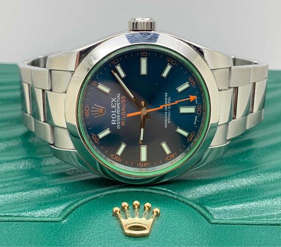 Rolex Milgaus Vidro Verde
