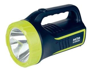 Lanterna Holofote Led 265 Lúmens Recarregável Bivolt Mor