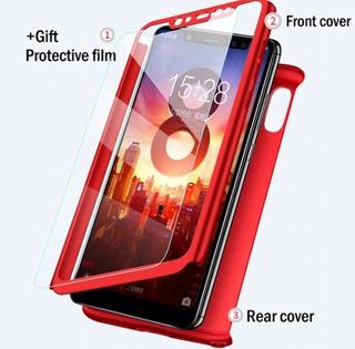 Capa Case 360° Celular Xiaomi Mi8 + Película Vidro