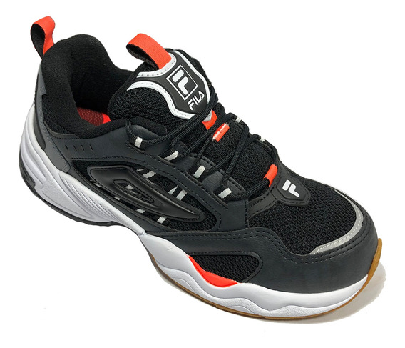 Tênis Fila Attrek Footwear Preto E Laranja - Original