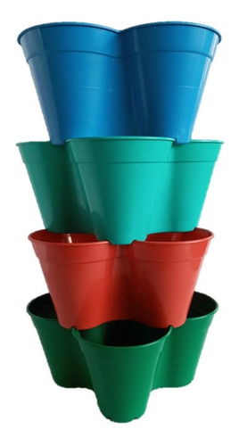 Imagen 1 de 6 de Matera Trebol X10 Jardin Vertical Huerto Urbano Torre Planta