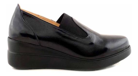 Zapato Mujer Cuero Briganti Plataforma Confort - Mccz33030