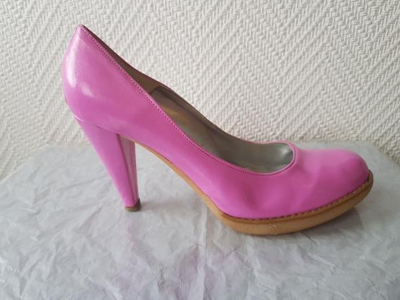 Zapatos Stilettos Rosa Chicle