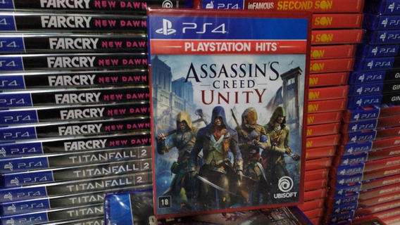 Assassins Creed Unity Ps4 Mídia Física Português Lacrado