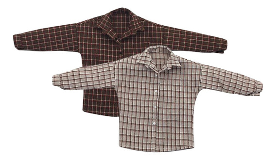 1/6 Escala Masculino Camisa Plaid Roupas Para 12 -inch