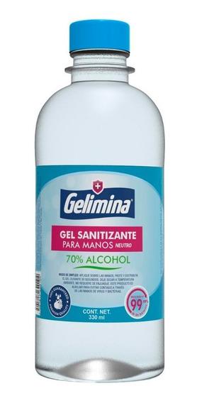 Gel Antibacterial Para Manos 330 Mililitros Gelimina