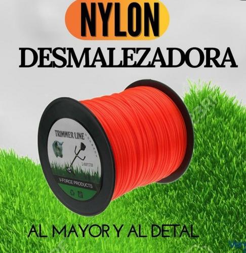Nylon Dezmalezadora 3.3 Mm Rollos De 210 Mts