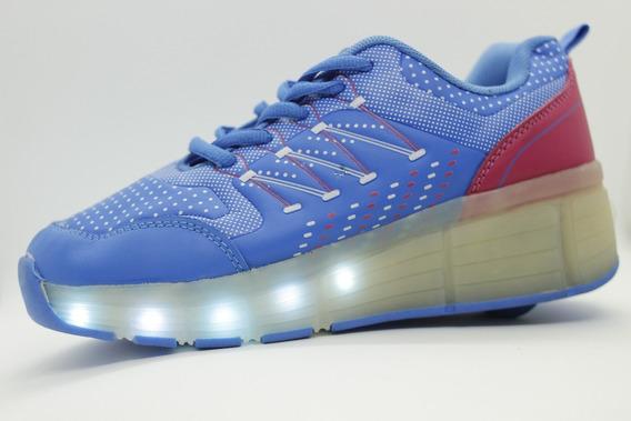Zapatillas Con Ruedas Y Luces Led Recargables En 4 Colores
