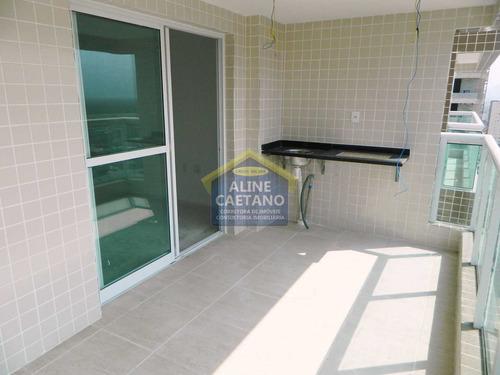 Imagem 1 de 30 de Novo * Prontinho Para Morar Em Praia Top - 3 Dorms Com 2 Vagas - Vlct00100