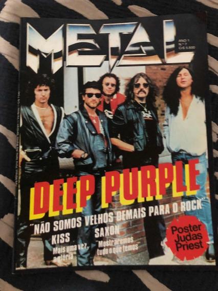Revista Metal Deep Purple Kiss Motley Crue Wasp Bruce D