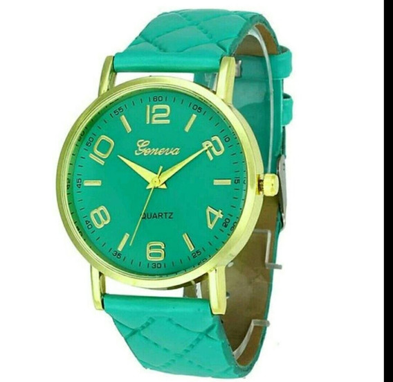 Relógio Feminino Verde Geneva