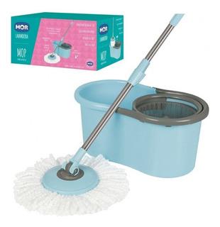 Balde Mop Esfregão Simples Limpeza Prática 8298 - Mor
