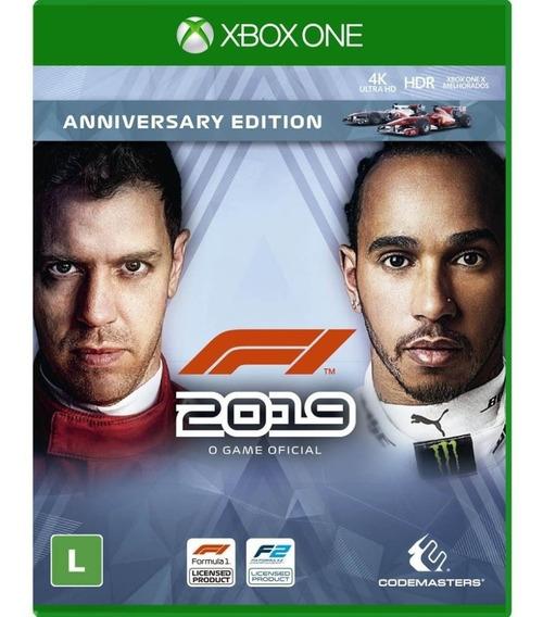 F1 2019 Anniversary Edition Xbox One Mídia Física Lacrado