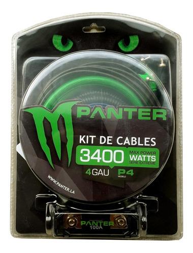 Imagen 1 de 2 de Kit De Cables Panter P4 4 Gauge 3400w - Audio Baires