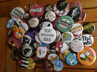 Botons Button Bottons Broche Personalizado 300 Un Tam 3,5cm