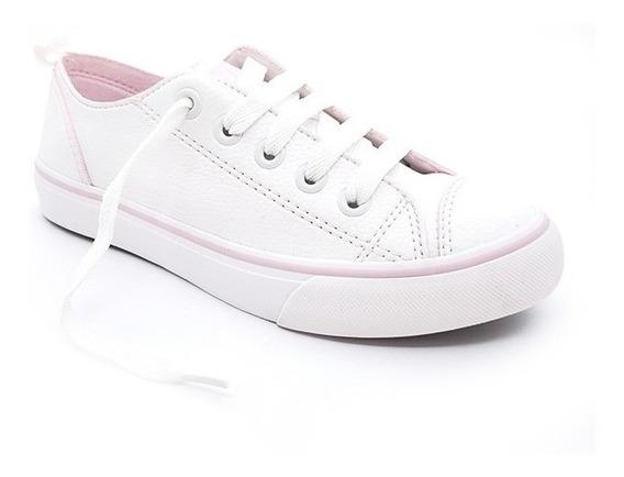 Tênis Feminino Casual Capricho Likes Yarn Branco/rosa